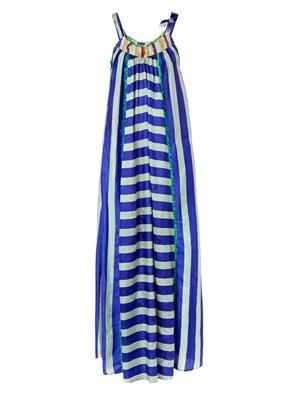 Vana striped silk maxi dress