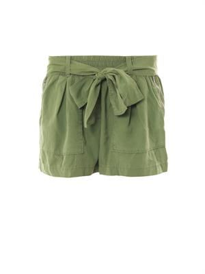 Chelsea brushed-silk shorts