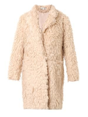Iris faux-shearling boyfriend coat