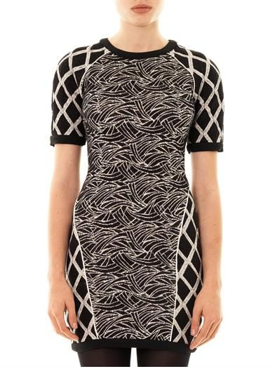 Elizabeth and James Argon jacquard body-con dress