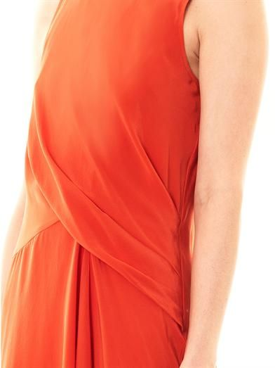 Elizabeth and James Angelina draped silk dress