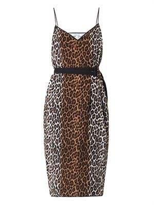 Alix leopard-print slip dress