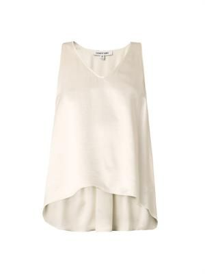 Everly sleeveless satin blouse