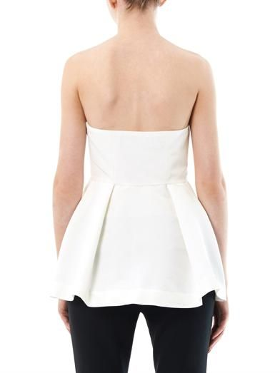 Elizabeth and James Jill strapless silk blend blouse