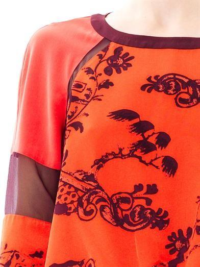 Elizabeth and James Nostrad floral-print silk blouse