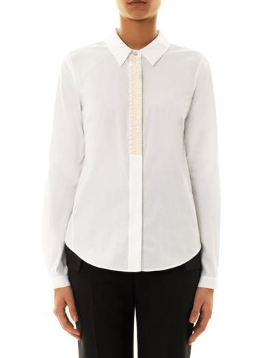 Elizabeth and James Benita embellished poplin shirt