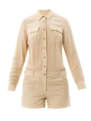 Leo slouchy shirt playsuit