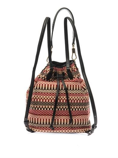 Elizabeth and James Cynnie Sling woven tassel backpack