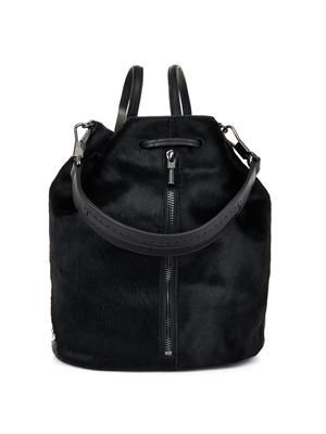 Cynnie Sling calf-hair backpack