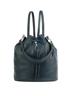 Cynnie Sling leather tassel backpack