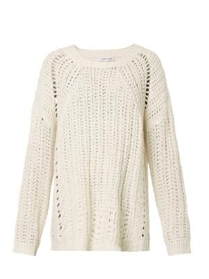 Textured loose-knit sweater
