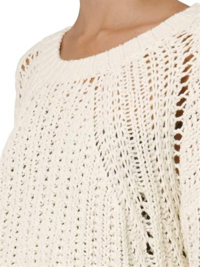Elizabeth and James Textured loose-knit sweater