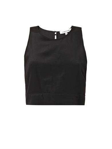 Elizabeth and James Katrin cropped silk blouse