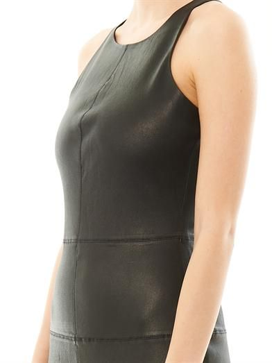 Elizabeth and James Delon leather body con dress