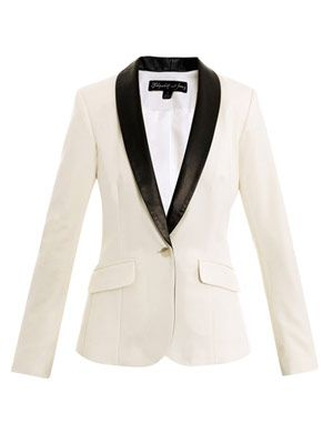 Rex leather-lapel tuxedo jacket