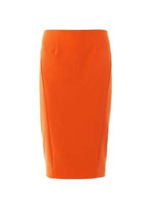 Carolann zip-back pencil skirt