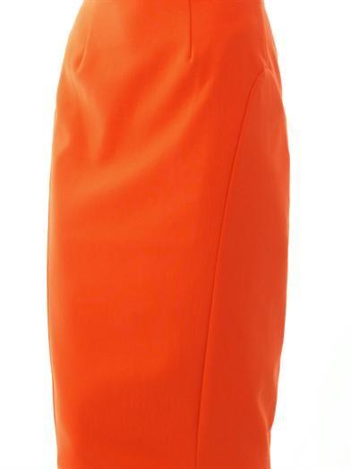 Elizabeth and James Carolann zip-back pencil skirt