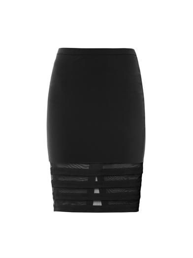 Elizabeth and James Sheer panel pencil skirt