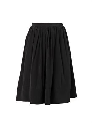 Avenue knee-length silk skirt