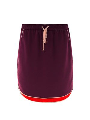 Kent contrast-trim skirt