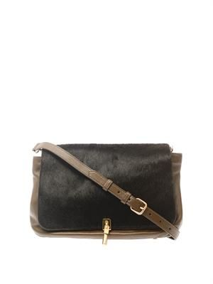 Cynnie medium calf-hair cross-body bag