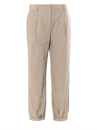 Elizabeth and James Mitch creased cotton-blend trousers