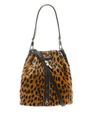 Cynnie mini calf-hair bucket bag