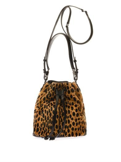 Elizabeth and James Cynnie mini calf-hair bucket bag