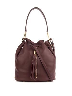 Cynnie mini leather bucket bag