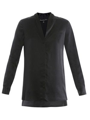 Hammered silk mirta shirt
