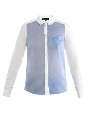 Blake bi-colour cotton shirt