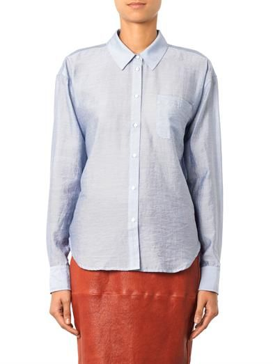 Elizabeth and James Carine fine-striped shirt