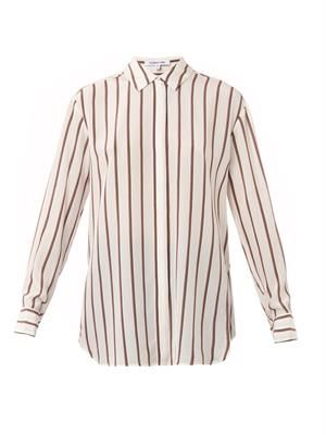 Sade striped silk shirt