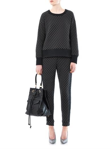 Elizabeth and James Polka-dot cotton sweatshirt