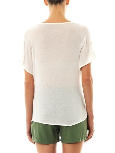 Elizabeth and James Denver drape-front T-shirt