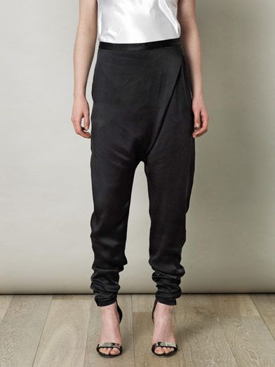 Elizabeth and James Hammered silk drape trousers