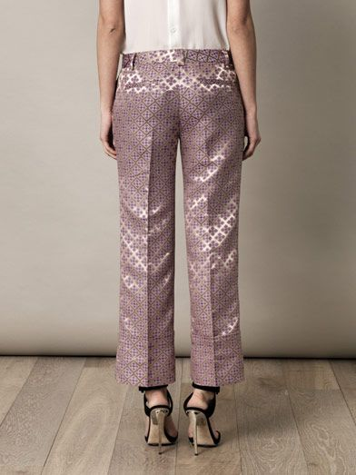Elizabeth and James Carson tile-jacquard trousers