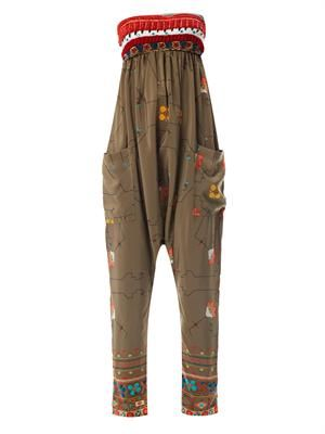 Amymara embroidered bandeau jumpsuit