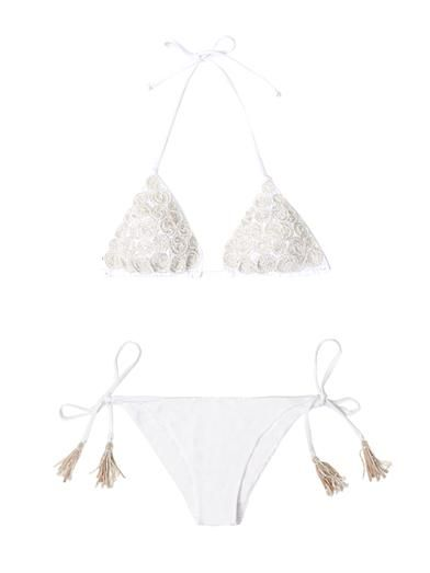 Emamò Embroidered and beaded bikini