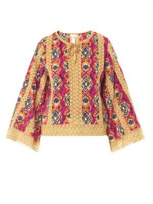 Marrakech-print cotton cover-up