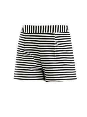Stripe high-waisted shorts