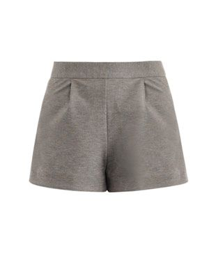 Marl high-waist shorts