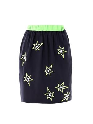 Star embroidered skirt