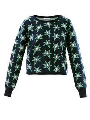 Star intarsia-knit sweater