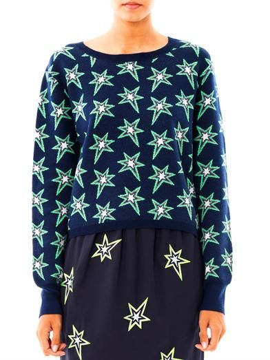 Emma Cook Star intarsia-knit sweater