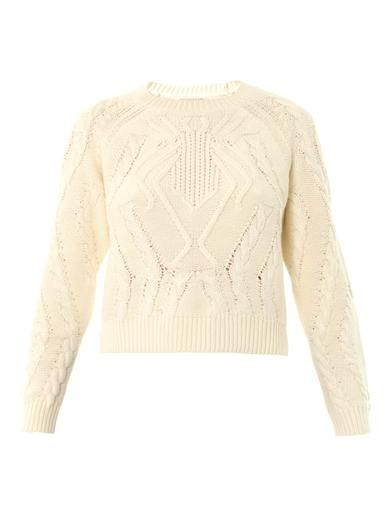 Emma Cook Spider cable-knit sweater