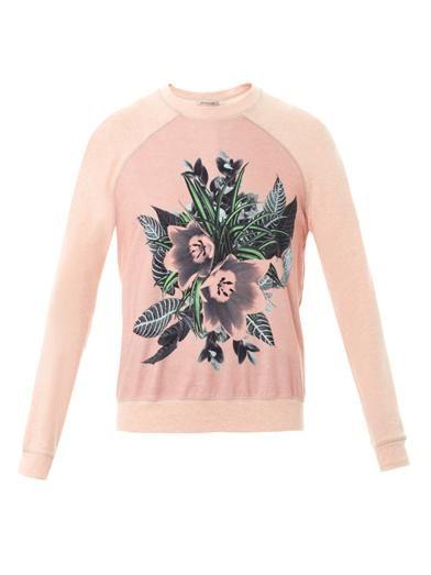 Emma Cook Floral-print cotton sweatshirt