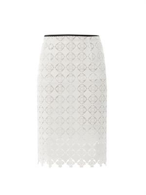 Aysha diamond lace pencil skirt