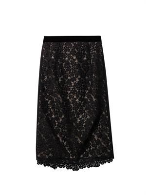 Marly lace pencil skirt