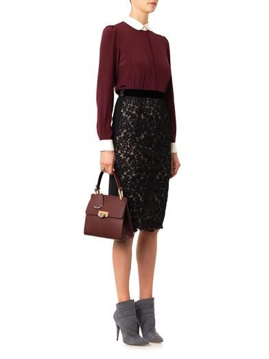 Erdem Marly lace pencil skirt